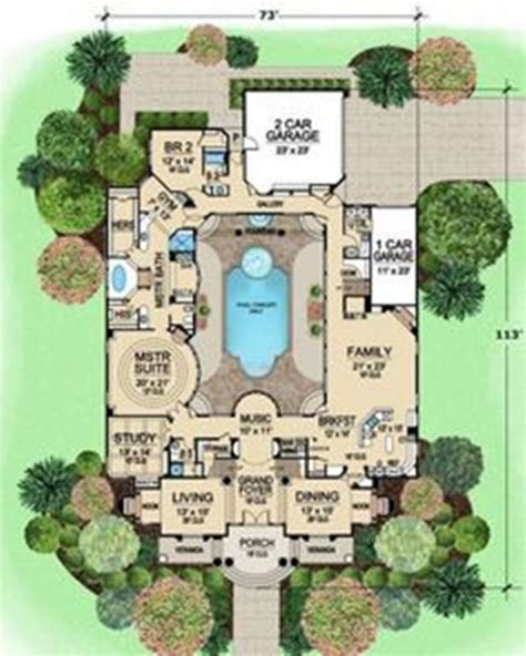 floor plan with courtyard in middle of the house house plans with courtyard in middle