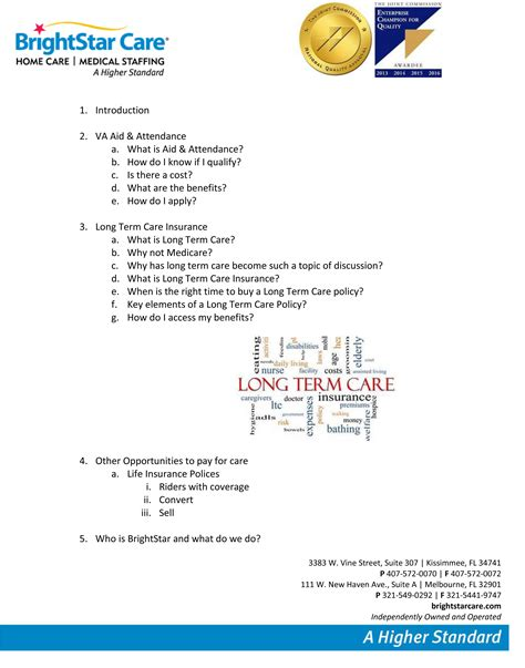 Career Day Presentation Outline by Paying For Home Care Community Presentation In Celebration Florida Brightstar Care
