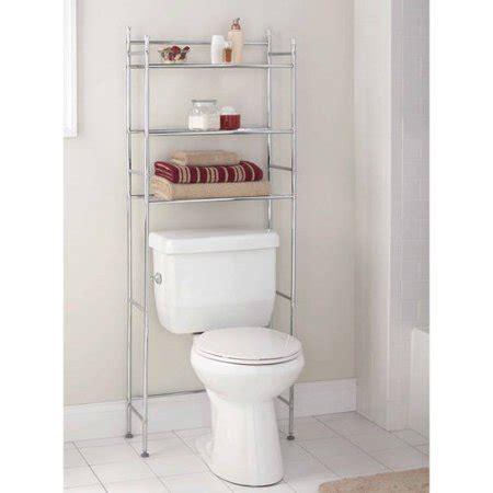 mainstays 3 shelf bathroom space saver chrome finish