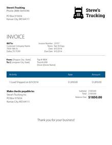 Transport Invoice Template by Trucking Invoice Template Invoice Template Ideas