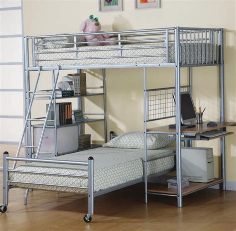 queen size loft bed with desk twin over queen bunk bed bedroomsl shaped desk low l