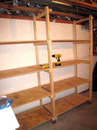 how to build inexpensive basement storage shelves one