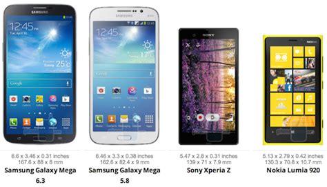 samsung galaxy mega size comparison note ii  iphone  lumia  iphone