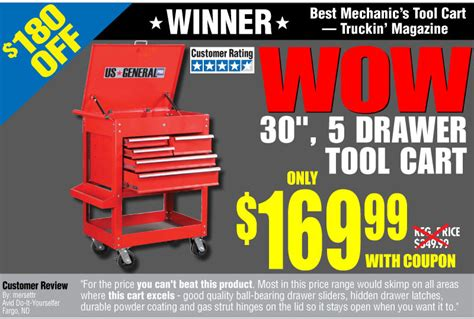 Harbor Freight Gift Card - harbor freight wow quot best mechanic s tool cart quot truckin magazine only 169 99