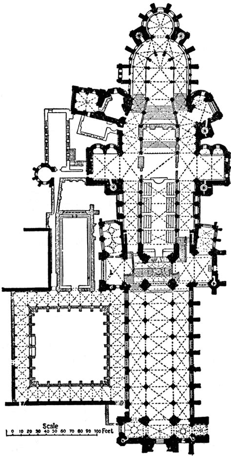 floor plan of cathedral canterbury cathedral clipart etc
