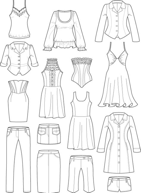 Sketches Clothes by Technical Drawings Trowbridge