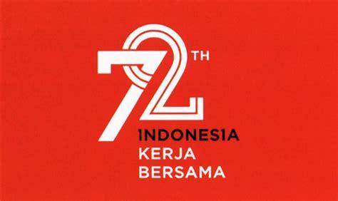 Kaos Hut Indonesia Raya 72 Tahun permerintah rilis logo 72 tahun hut indonesia