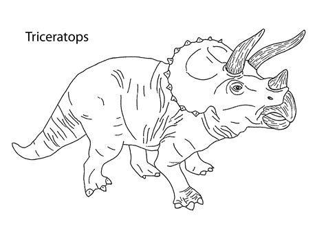 triceratops dinosaur coloring pages for kids printable