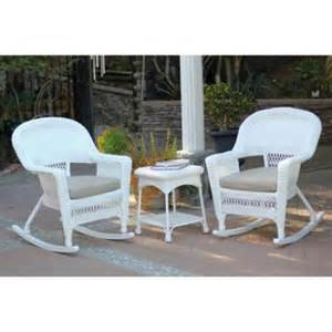 Resin Wicker Patio Furniture Reviews by 3 Ariel White Resin Wicker Patio Rocker Chairs And