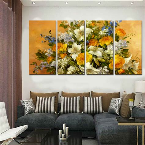 canvas for living room 2016 new 4 pcs wall picture home decoration living