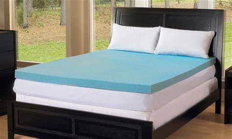 gel foam mattress topper groupon goods