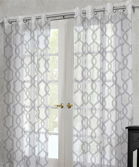 Sheer Grommet Curtains Residence White Sheer Grommet Panel Set Of Two Grommet Curtains Curtains And Set Of