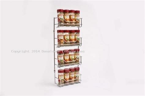 Small Spice Rack by Chrome 4 Tier Spice Rack Small Dl4595 Organise At The Storage Shop