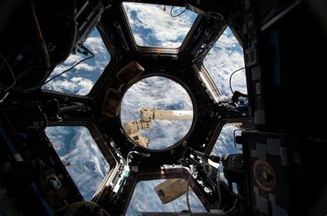 cupola module space debris hit the international space station causing