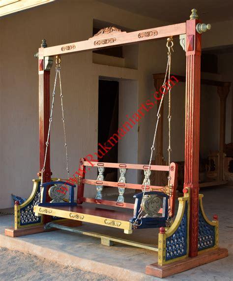 indian swing wooden swings wooden jhoola buy carved indian swings