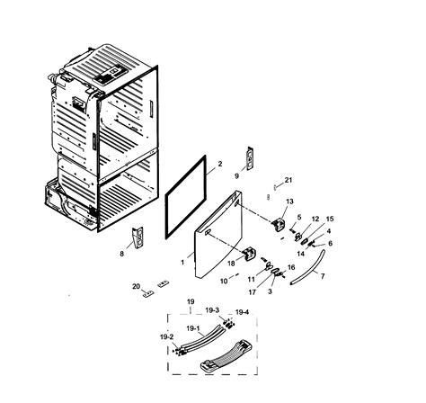 Samsung Refrigerator Parts by Samsung Refrigerator Parts Model Rf260beaebcaa0001 Sears Partsdirect