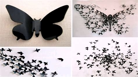 How To Make Paper Butterfly Wall Decor - diy paper butterfly wall decor