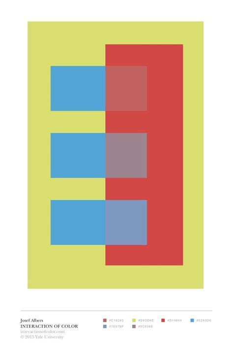 albers interaction of color quot transparence and space