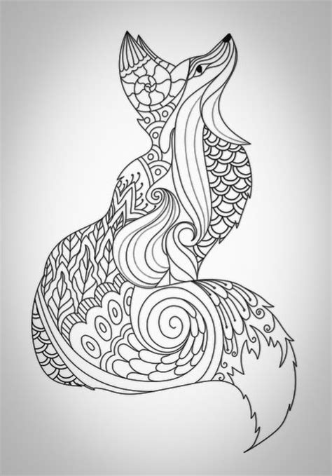 coloring pages for adults fox fox col 8 jpg 460 215 659 coloring for adults
