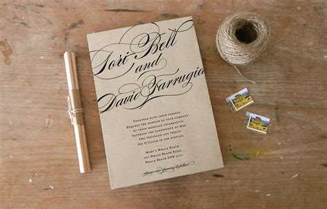 how to calligraphy wedding invitations diy diy wedding ideas for budget savvy brides calligraphy invite onewed