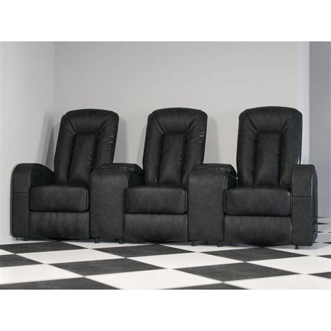 freeport park leather  seat home theater recliner
