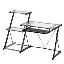 metal and glass desks z line designs nero modern metal and glass desk and