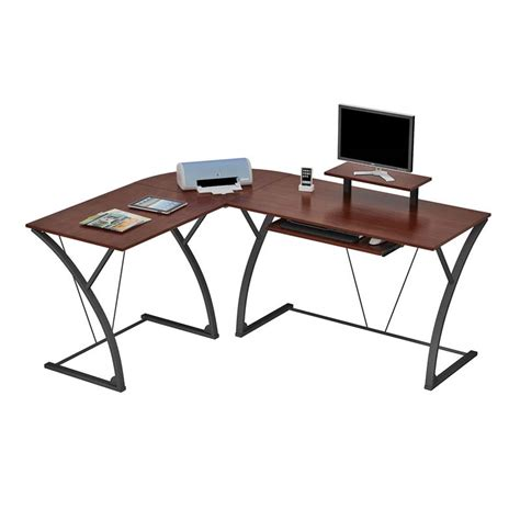 Z Shaped Desk Z Line Designs Khloe L Shaped Computer Desk Espresso And