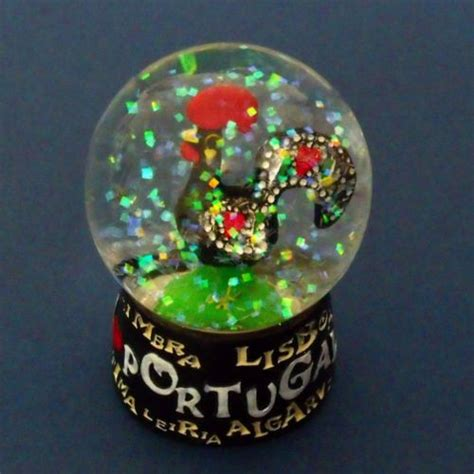 hallmark extra large snow globes portugal luck rooster galo barcelos snowglobe souvenir snowdome