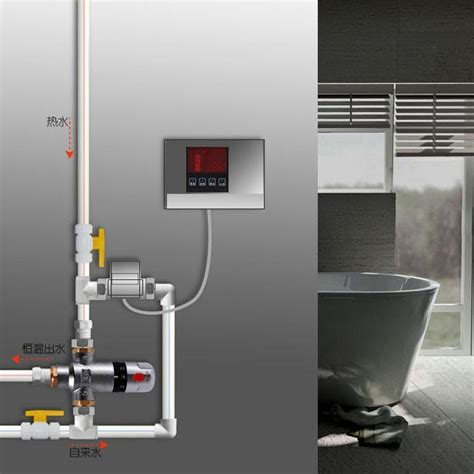 bathroom heater installation brass temperature mixing valve thermostatic valve bathroom