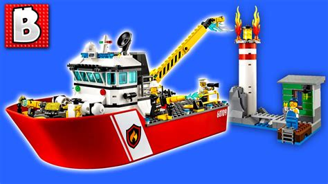 how to build a lego boat that floats lego city fire boat set 60109 unbox build time lapse
