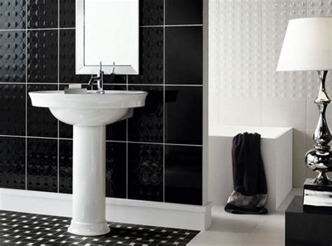 black and white bathroom tile designs black and white ceramic tile bathroom design home interiors