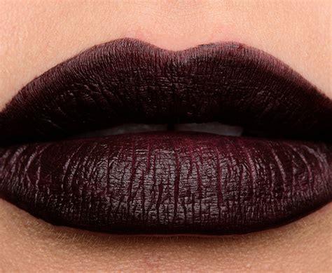 black paint swatch nars rock with you paint it black powermatte lip