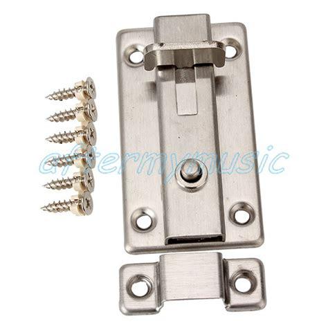 Shower Door Latch Home Shower Door Stainless Steel Bolt Latch Lock Safety Ebay