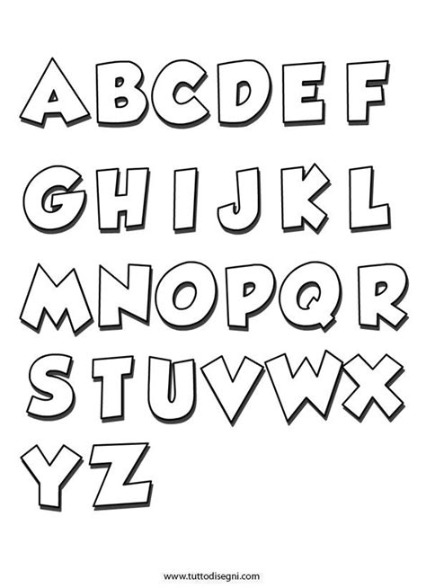 lettere dell alfabeto stilizzate alfabeto da colorare tuttodisegni alfabeto