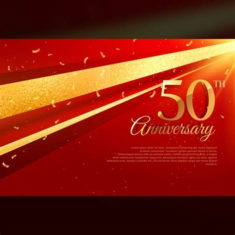 50th anniversary luxury red background Vector   Free Download