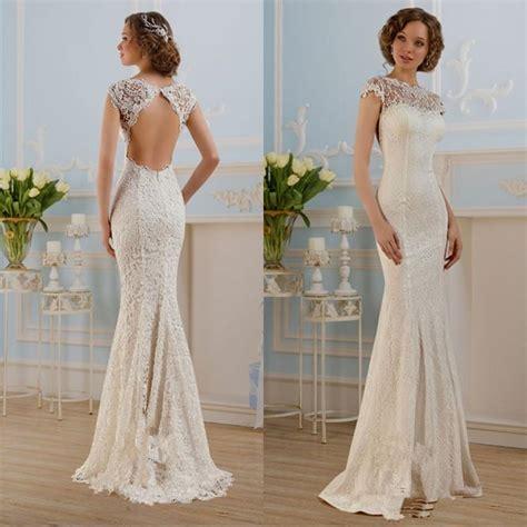 White Lace Wedding Dresses by White Lace Sheath Wedding Dress Naf Dresses