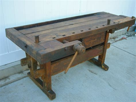 woodworking bench sale fabulous antique wooden carpenters workbench with vises