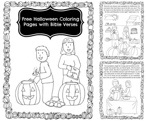 pumpkin carving coloring pages with bible verses for