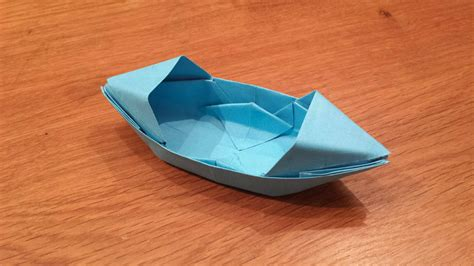 Origami Canoe - how to make a paper boat that floats origami doovi