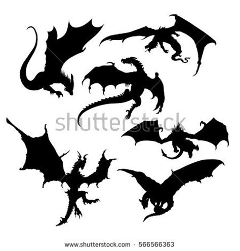 dragon silhouette stock images royalty free images