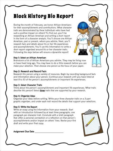 character biography ideas report writing student and character trait on pinterest