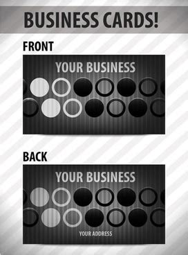 circle business card template illustrator casino background cards icons ribbon circle
