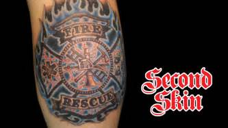 flaming cross tattoo flaming firefighter cross