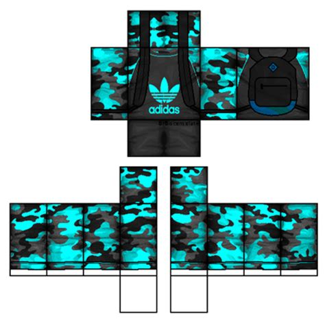 Jaket Sweater Roblox adidas cyan camo shirt with backpack roblox