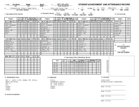 high school transcript template homeschool diploma and transcript