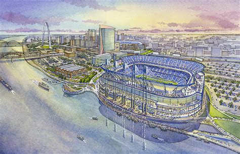 st louis ram stadium look rendering plans for proposed new st louis rams