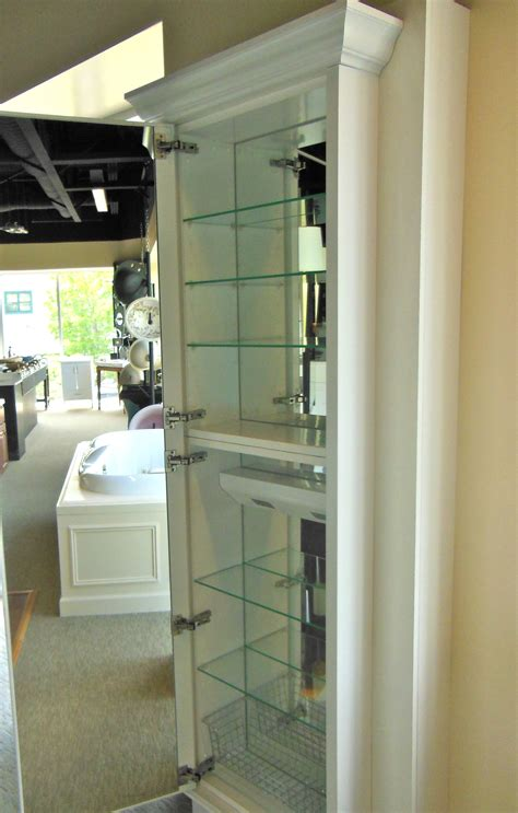 Bathroom Mirror With Storage Inside This X Large Medicine Cabinet Designing Our Bathroom Remodel