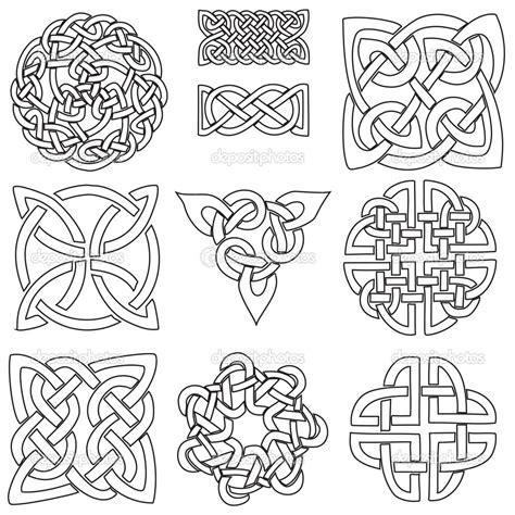 celtic designs and meanings for tattoos celtic symbols stock illustration 22583731 coloring