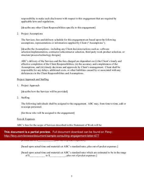 Simple Subcontractor Agreement Template sample consulting engagement letter
