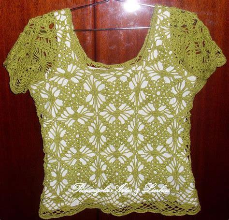 blusa rosada tejida con motivos a crochet paso a paso tejidos milagros ena blusa tejida a crochet paso a paso imagui